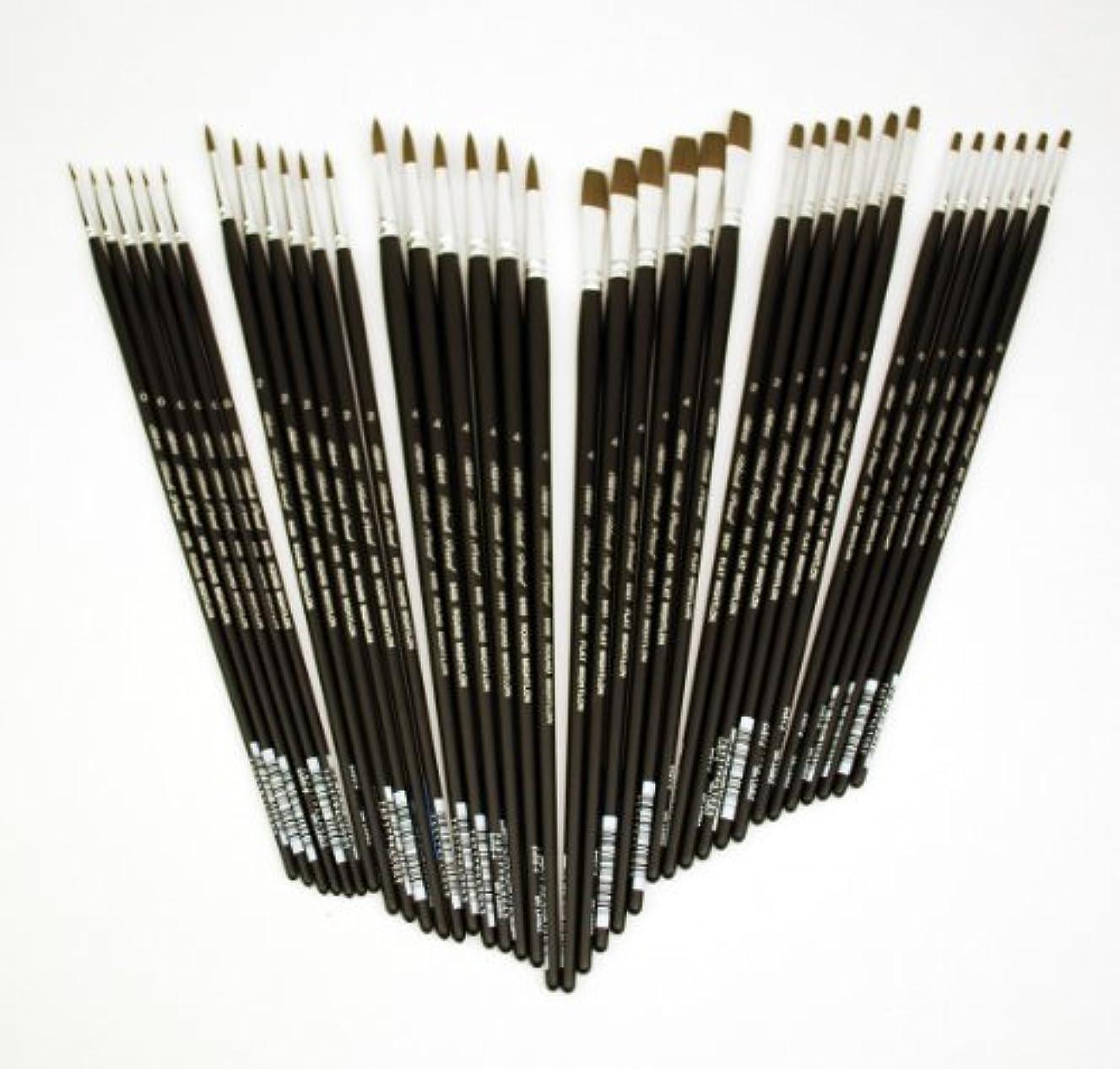 Silverwhite CP-6436 Silver Studio Black Pearl Long Handle Brush Class Pack, 36 Per Pack