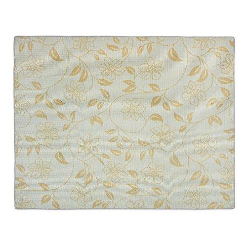 casa pura® Gartentischdecke Bianca | weiß mit verspieltem Blumenmuster | Weichschaum Tischdecke für Garten und Balkon | rechteckig 130 cm x 160 cm