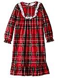 Komar Kids Girls Traditional Holiday Christmas Plaid Nightgown Pajamas (Medium / 7-8, Girls Red)