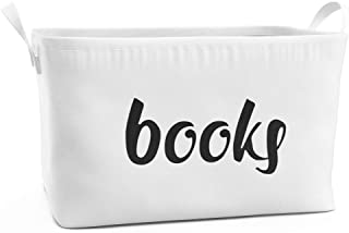 Fawn Hill Co. Rectangular Storage Box for Books | Cute Organizer Basket for Playroom, Closet, Kitchen, Classroom & Bedroom | Stylish Organization Bin Goes Great with Home Decor | Large
