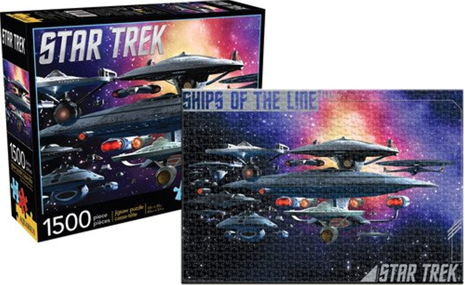 Star Trek Ships of The Line 1500 Pc Jigsaw Puzzle