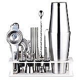 Kit fabricación Barman,Boston Shaker Set Barman,Barra 17 Piezas,Herramienta hogar con Accesorios,Recetas exclusivas para Bricolaje