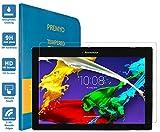 PREMYO Cristal Templado Protector de Pantalla Compatible con Lenovo Tab 2 A10-70 Dureza 9H Bordes 2,5D Sin Burbujas contra Arañazos