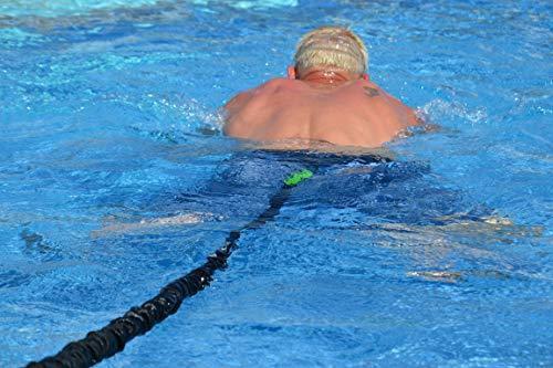 BodyCROSS Schwimmtrainer | optimales Schwimmen ohne Gegenstromanlage | für jeden Pool geeignet | gepolsterter Schwimmgürtel | Aqua-Tube von 1 - 20kg Zugkraft | Sport und Spaß für die Familie | Made in Germany