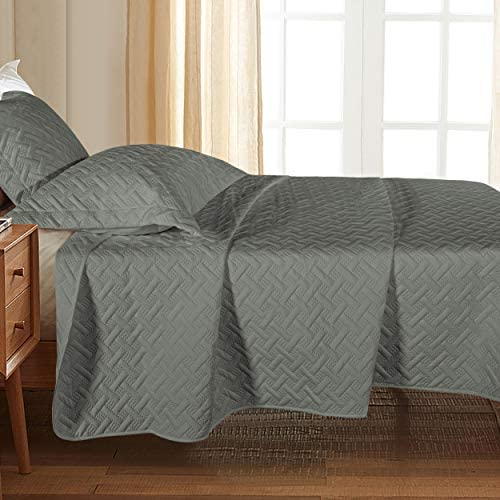 NTBAY Twin 2 Piece 1 Quilt and 1 Sham Washed Quilt Set Soft and Lightweight Microfiber Coverlet product image