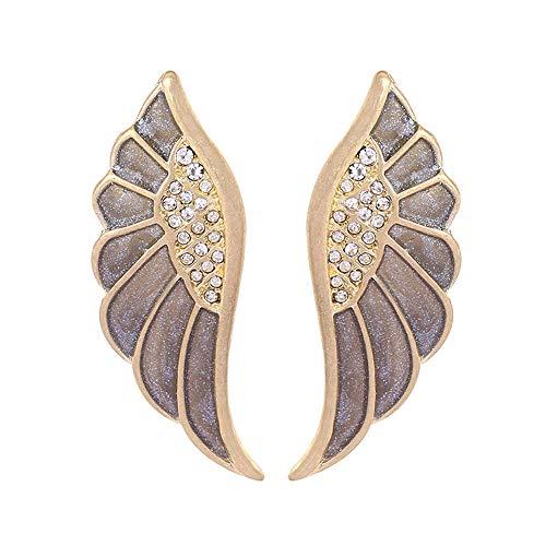 AIEDE Gold Bling Angel Wings Stud Drop Earrings for Girls Womens