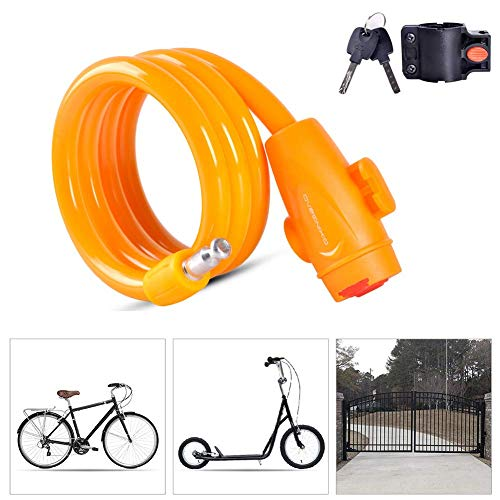 SGSG Bicycle Lock,Anti-Theft Locks with Mounting Bracket Dust Cover Design High Quanlity Heavy Duty Bicycle Bike Chain Lock,Security Burglar Best for Outdoor Bike Gate Fence Garage