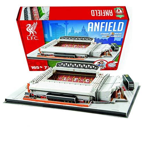 Mankvis 3D-Stadion-Puzzle-Modell, Nachbildung des Heimstadions des Liverpool Football Club, Pädagogische Requisiten Für Pädagogische Puzzles Für Kinder