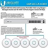 UniFi AP AC LR UAP-AC-LR-5 Long Range Wireless Access Point 802.11AC with Managed Switch PoE+ US-16-150W 16-Ports Gigabit Switch