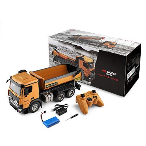 IIKA RC Muldenkipper 1:14 Ferngesteuert Kipper RC Kipperkarten Engineer Fahrzeugmodell Spielzeug avec Beleuchtung und Sound