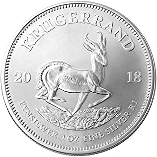 2018 ZA South African Krugerrand 1 Troy Oz Silver Bullion 1 Rand Brilliant Uncirculated