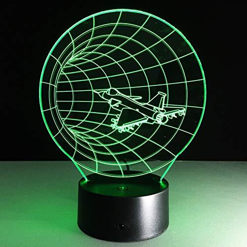 QAZEDC Luz nocturna 3D Time Machine 3d Lámpara de ilusión visual Acrílico transparente Luz nocturna Led Hada Lampa Cambio de color Mesa táctil(Envío gratis)