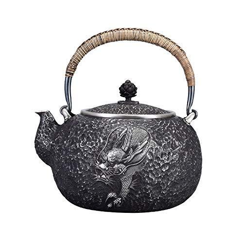 XHH Tetera de Plata Tetera para el hogar Juego de té de Plata Vintage para el hogar Juego de té de hervidor de Agua de Plata de Ley 999 Kung Fu Tea Ceremony Collection (Profesional y Hermoso)