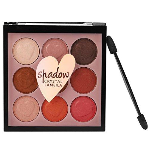 Hasee 9 Farbe Perle Glitter Lidschatten Pulver Palette Matte Lidschatten Kosmetik Make-Up (C)