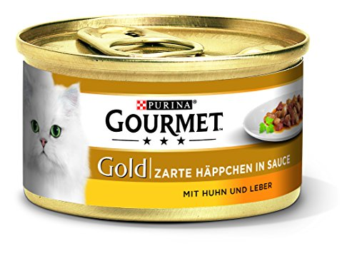Purina Gourmet Gold Kattenvoer, Natvoer, 12 x 85 g Blik