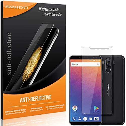 SWIDO Protector de Pantalla para Ulefone Power 3S [Anti-Reflex], [2 Piezas] Antirreflectante, Mate, Anti-Arañazos, Anti-Huella Dactilar - Película Protectora