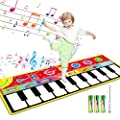 "Tencoz Kids Musical Mats, Floor Keyboard for 3-14 Years Old Boys Girls, 10 Keys Piano Mat with 8 Selectable Musical Instruments, Kids Early Educational Toys (58.26"" x 23.62"") by Tencoz"
