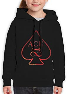 Youth ACE Family Same Popular Logo Funny Travel Black Sweater