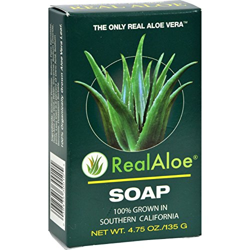 Real Aloe Aloe Vera Bar Soap - 4.75 oz - (Pack of 3)
