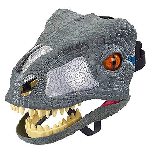 LXVY Efecto De Sonido Dinosaurio Máscara Niño Juguete Halloween Mascarada rol Peluca