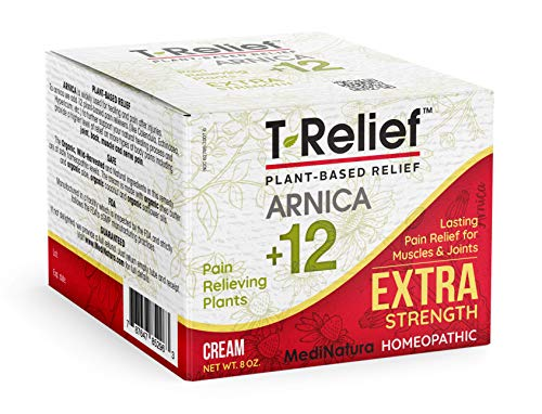 MediNatura T-Relief Extra Strength Pain Relief with Arnica + 12 Plant-Based Pain Relievers (8 Ounces)