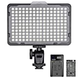 Neewer Regulable 176 LED Luz de Video 5600K en Panel de Luz de Cámara con 2200mAh Batería y...