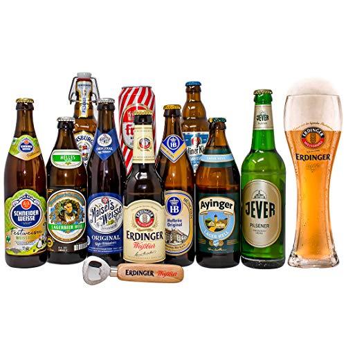 Oktoberfest German Craft Beer Mixed Case Gift Set With Erdinger Glass & Erdinger Bottle Opener (10 Pack)