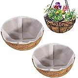 Wisolt Cesta de coco para colgar de 20 cm, para macetas de 20 cm, cesta de repuesto para colgar de fibra de coco para plantas de jardín, verduras y flores