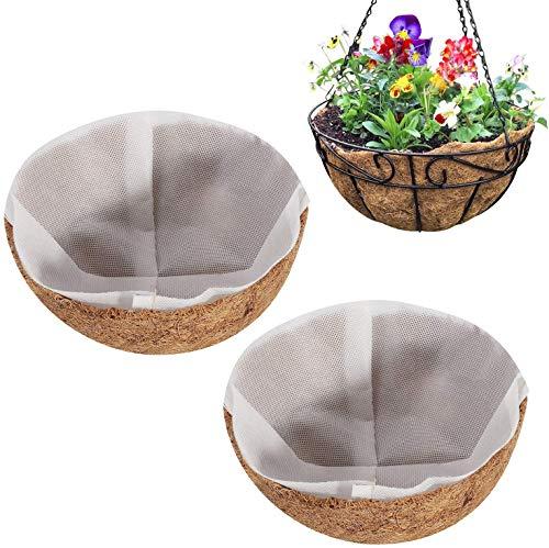 Wisolt Cesta de coco para colgar de 20 cm, para macetas de 20 cm, cesta de repuesto para colgar de...