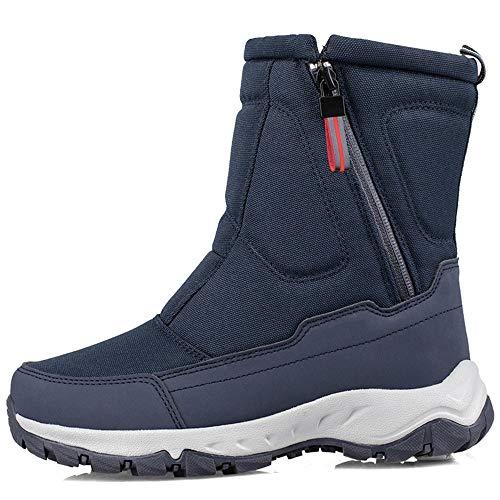 ZSLLO Caldo Inverno della Caviglia Bootie Anti-Slip Stivali Slittamento Impermeabile di Neve Stivali Donne su Scarpe da Esterno Womens Doposci (Colore : Dark Blue, Size : 39)
