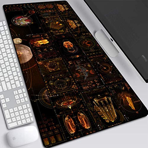 HYXQYYXD Gaming Mouse Pad, Anime Mouse Pad, Iron Armor Iron Man Stark Industrial Iron Man Marvel Iron Man Mouse Pad Oversized 800 300 3mm Non-Slip Rubber, Stitched Edge Table Mat Keyboard Pad ++
