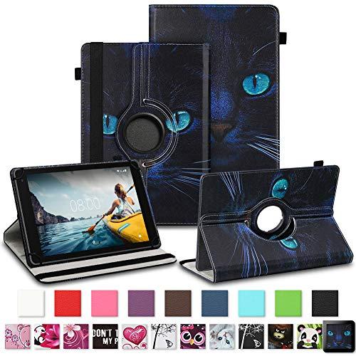 NAUC Tablet Schutzhülle für Medion Lifetab P8912 Hülle Tasche Standfunktion 360° Drehbar Cover Universal Case, Farben:Motiv 3