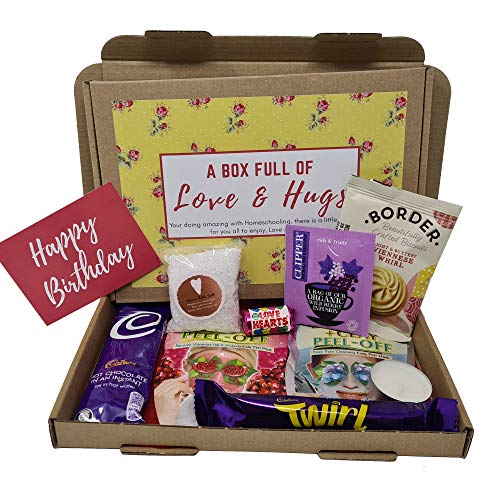 Personalised Pamper Treat Box Letterbox Gift Box Hug in a Box - You got this, Anxiety Worry Take a break - Lockdown - Personalised for Various Occasions (Yellow Floral - Happy Birthday)
