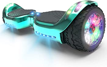 HOVERSTAR HS 2.0v Hoverboard All-Terrain Two Wide Wheels Design Self Balancing Flash Wheels Electric Scooter with Wireless...