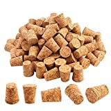 Package includes 100 pieces #7 tapered cork plugs, enough to meet your daily replacement using. Made of high quality natural cork, safe and bio-degradable, no harmful substances, good pliability and great seal. The top diameter is 0.8 inch, bottom di...