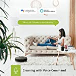 Kyvol cybovac e20 robot vacuum cleaner, 2000pa suction, 150 min runtime, boundary strips included, quiet, super-thin… 13 powerful suction & ultra-thin: 2000pa strong suction power, are suitable for hard floors to medium-pile carpets. Special design for daily cleaning, cybovac e20 can easily clean various dust, hairs, and cat litter from your room, carpet, and under furniture. Kyvol robotic vacuum cleaner has a slim 2. 85-inch body. It's thin enough to reach every corner of a house or narrow space, clean leftover dirty areas, and keep your house neat 150 min runtime & self-charging: this automatic vacuum cleaner robot has a high capacity lithium-ion battery of 3200mah and a charging base. It could continuously work about 150 minutes(max) to meet the cleaning needs from the living room to the bedroom. When the battery is low(light turns to orange), it will automatically return to the charging base smart app & voice control: you can easily create a cleaning schedule, change the cleaning mode, and control the cleaning direction by using the kyvol app. The auto vacuum cleaner robot is also compatible with alexa and google assistant, allowing users to let the robot start and stop the cleaning by voice commands. Use robots to save you time and energy