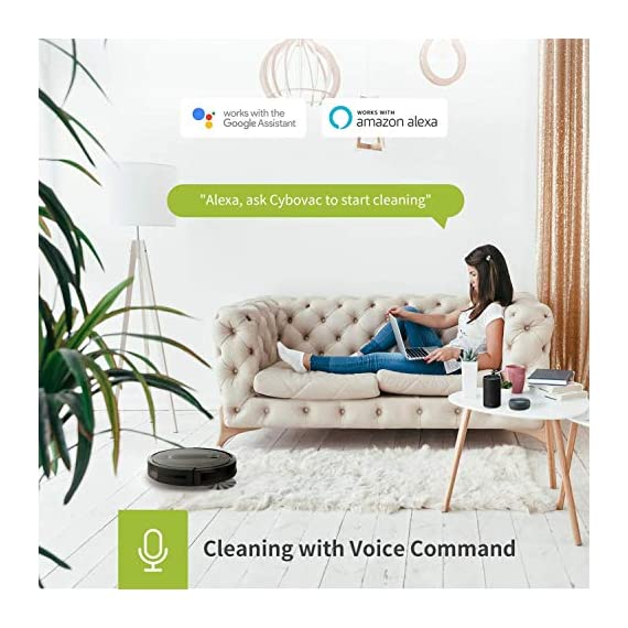 Kyvol cybovac e20 robot vacuum cleaner, 2000pa suction, 150 min runtime, boundary strips included, quiet, super-thin… 5 powerful suction & ultra-thin: 2000pa strong suction power, are suitable for hard floors to medium-pile carpets. Special design for daily cleaning, cybovac e20 can easily clean various dust, hairs, and cat litter from your room, carpet, and under furniture. Kyvol robotic vacuum cleaner has a slim 2. 85-inch body. It's thin enough to reach every corner of a house or narrow space, clean leftover dirty areas, and keep your house neat 150 min runtime & self-charging: this automatic vacuum cleaner robot has a high capacity lithium-ion battery of 3200mah and a charging base. It could continuously work about 150 minutes(max) to meet the cleaning needs from the living room to the bedroom. When the battery is low(light turns to orange), it will automatically return to the charging base smart app & voice control: you can easily create a cleaning schedule, change the cleaning mode, and control the cleaning direction by using the kyvol app. The auto vacuum cleaner robot is also compatible with alexa and google assistant, allowing users to let the robot start and stop the cleaning by voice commands. Use robots to save you time and energy