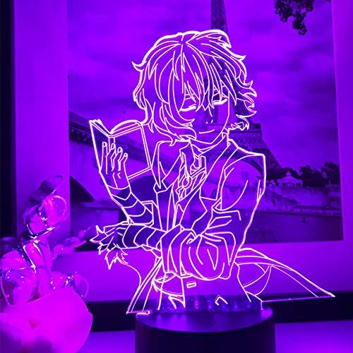 Stray Dogs Osamu Dazai Lámpara Amigo,Decoración de habitación Regalo de cumpleaños Gadget Nakahara Chuya Luz nocturna Anime Neon Light Dazai LED Luces nocturnas