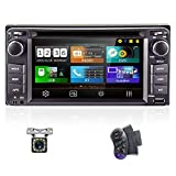 UNITOPSCI Car Stereo Car DVD Player - Double Din Bluetooth Audio and Hands-Free Calling 6.2 Inch Touch Screen Monitor Car Multimedia FM USB AUX-in SD/Phonelink for Toyota Corolla + Backup Camera, SWC