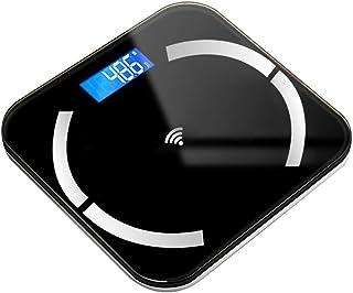 Báscula de baño digital Escala electrónica inteligente, pantalla LED, puede medir temperatura ambiental, se puede utilizar for la Medición de Peso báscula peso corporal (Color : D)