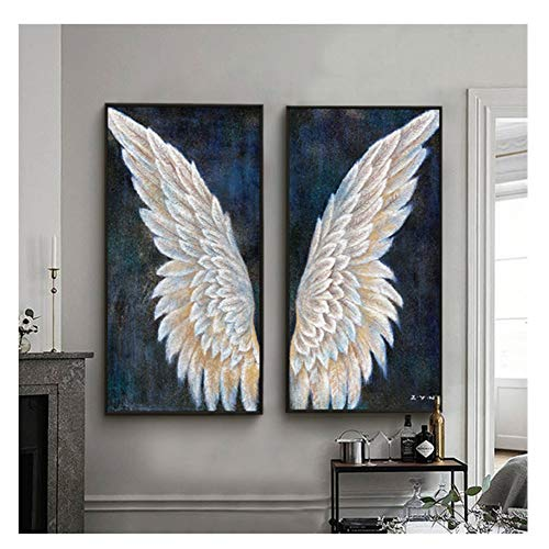 Suuyar Abstract Angel Wings Painting Pictures Canvas Prints Wall Art Home Decor Prints On The Wall Decoration Gift-40X80Cmx2Pcs No Frame