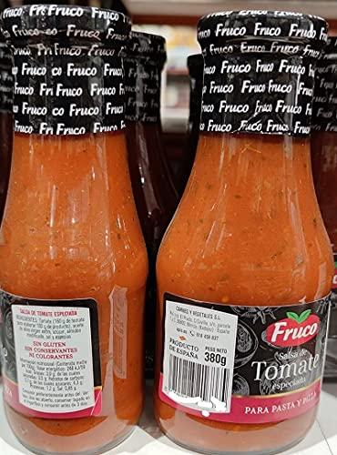 Fruco Salsa especiada pasta y pizza Fruco, Salsa tomate pizza, Salsa tomate pasta, Tomate frito con orégano, Salsa de tomate, 1 x 380 g