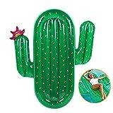 QYHSS Juguete de Piscina Inflable, Flotador de Piscina Juguete de Piscina de Verano, Enorme Alfombra de Aire Inflable de Cactus Verde, Piscina Tumbona, para Adultos, niños