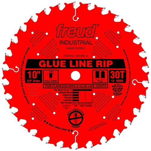 Freud 10 In. 30 Tooth Glue Line Ripping Saw Blade with 5/8 In