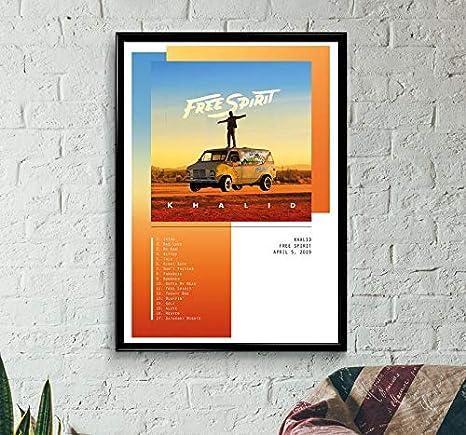 20x20 24x24 Poster Khalid Free Spirit Cover 2019 Album New K197
