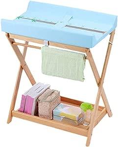 WYNZYYX Newborn Baby Changing Table  Massage Treatment Table  Multi-functional Storage Folding Crib Diaper Table