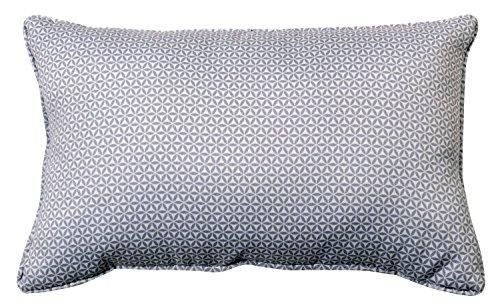 HomeMaison 891022 kussen, overtrek verwijderbaar, motief tegels van gebrand klei, polyester, grijs, 1 x 30 cm