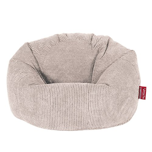 Lounge Pug, Klassischer Sitzsack Sessel, Pom-Pom Creme
