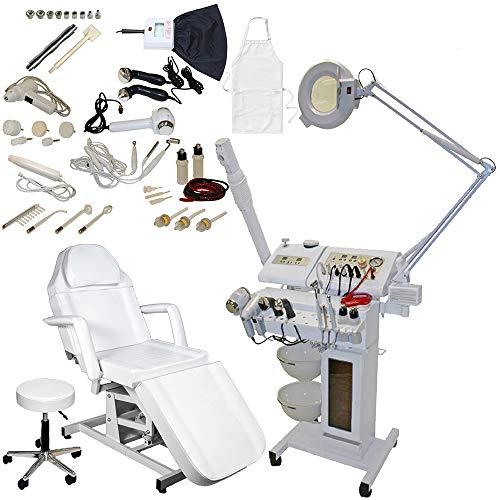 14 in 1 Multifunction Facial Machine Diamond Microdermabrasion Facial Steamer Magnifying lamp