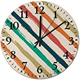 Reloj De Pared Reloj De Pared Mudo Movimiento De Cuarzo Sin Tictac Relojes De Silencio Líneas De Puntos De Baloncesto Reloj Decoración Para El Hogar Para Sala De Estar / Oficina / Cocina / Dormitorio